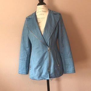 Blue Michael Kors studded zip jacket